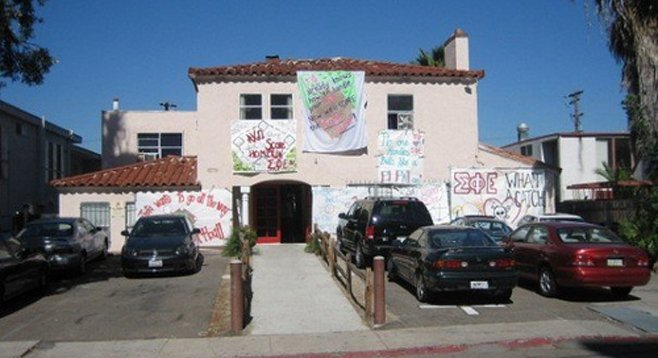 An SDSU fraternity house