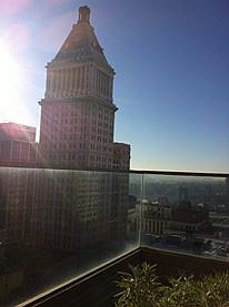 Rooftop view from Cincy's Hilton.