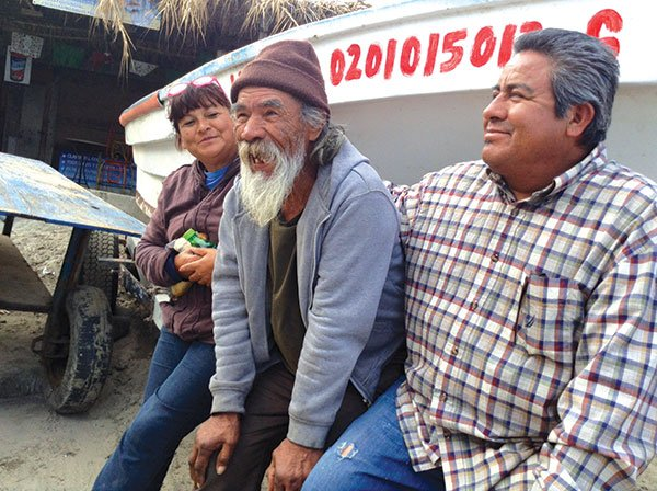 Don Pedro Garcia (center) founded the Popotla fishing village, which has stubbornly resisted modernization.
