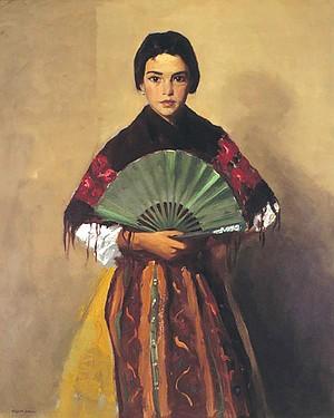 The Green Fan (Girl of Toledo, Spain), 1912. Oil on canvas. Gibbes Museum of Art, Charleston, South Carolina