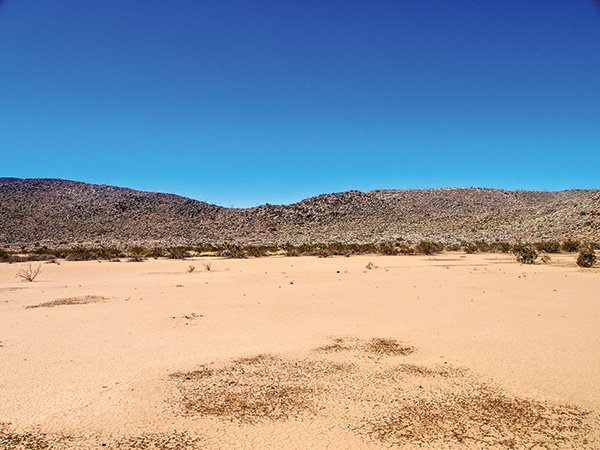 The hike leads to a dry lakebed, or playa.