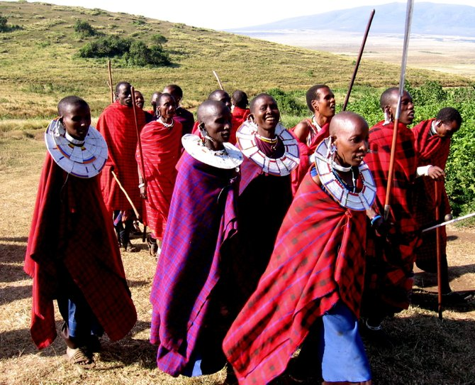 A Maasai welcome