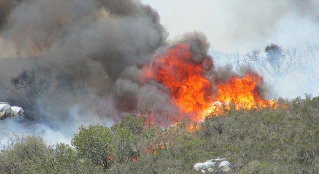 Carlsbad's Poinsettia fire