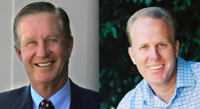 Douglas Manchester and Kevin Faulconer