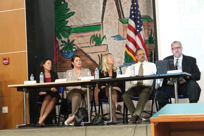 GSA, CalTrans, City of San Diego, SANDAG and MTS representatives at Virginia Avenue Pedestrian Crossing Forum
