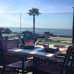 Ocean view outdoor patio seating