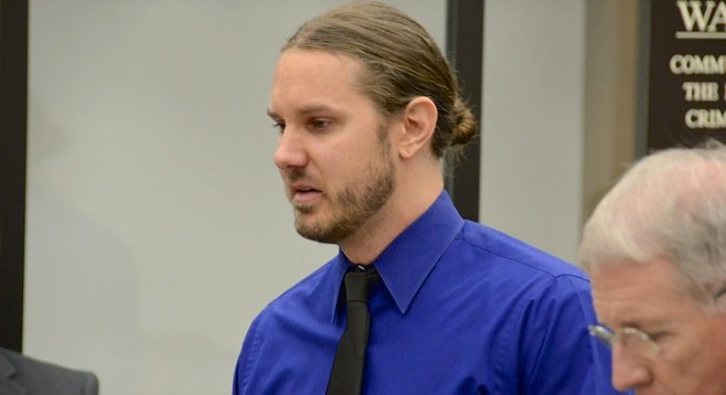 Tim Lambesis at sentencing, May 16