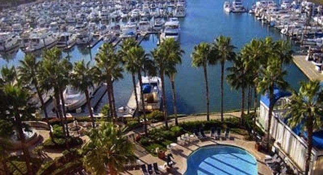View from Sheraton Hotel and Marina on Harbor Island