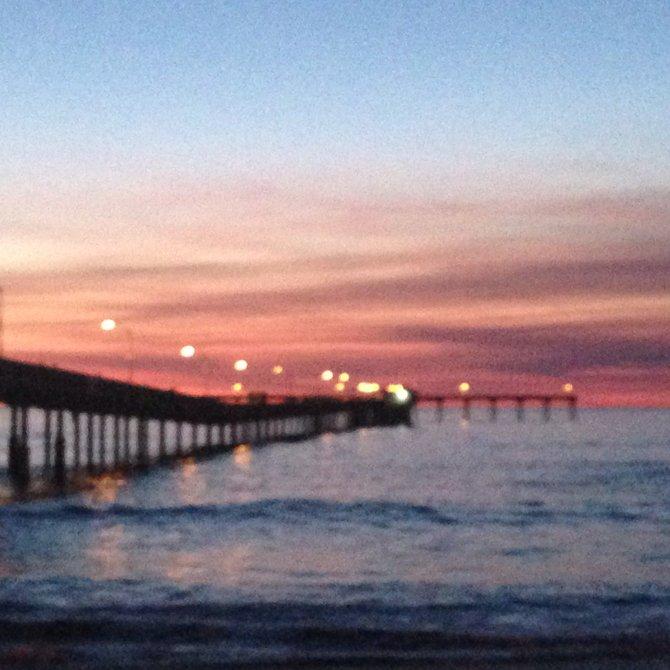 Sunset cliffs, ocean beach pier sunset