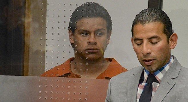 Cristian Constanti Garcia with his attorney José Garza Badillo
