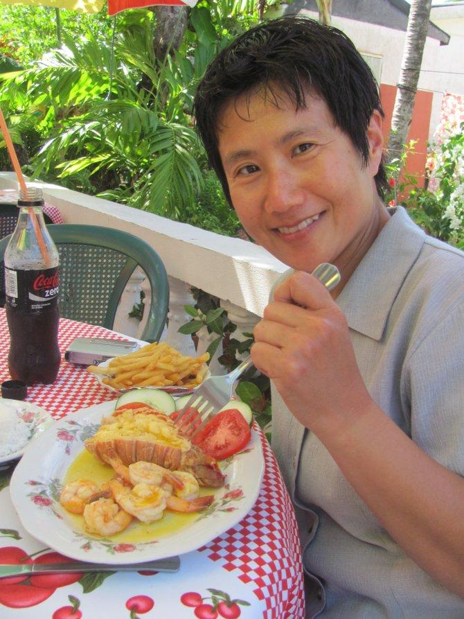 Fresh Lobster and Shrimp on Nicaragua's Big Corn Island