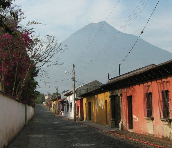 Pacaya Volcano in from Antigua, Guatemala