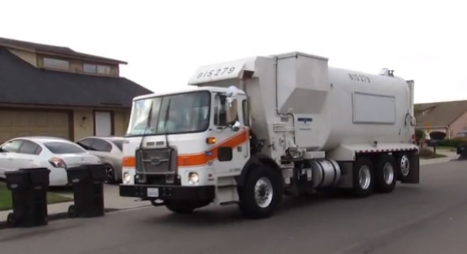 City of San Diego garbage truck