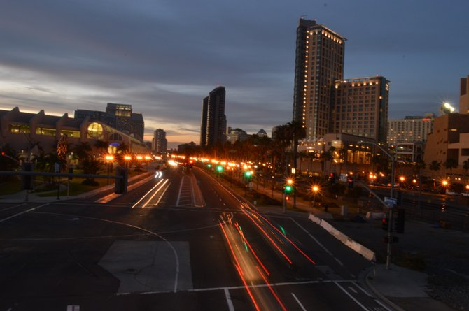 Downtown San Diego after hours.