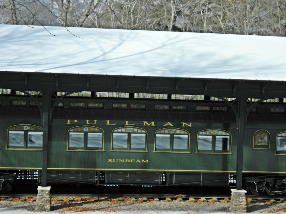 Pullman train car at Hildene.