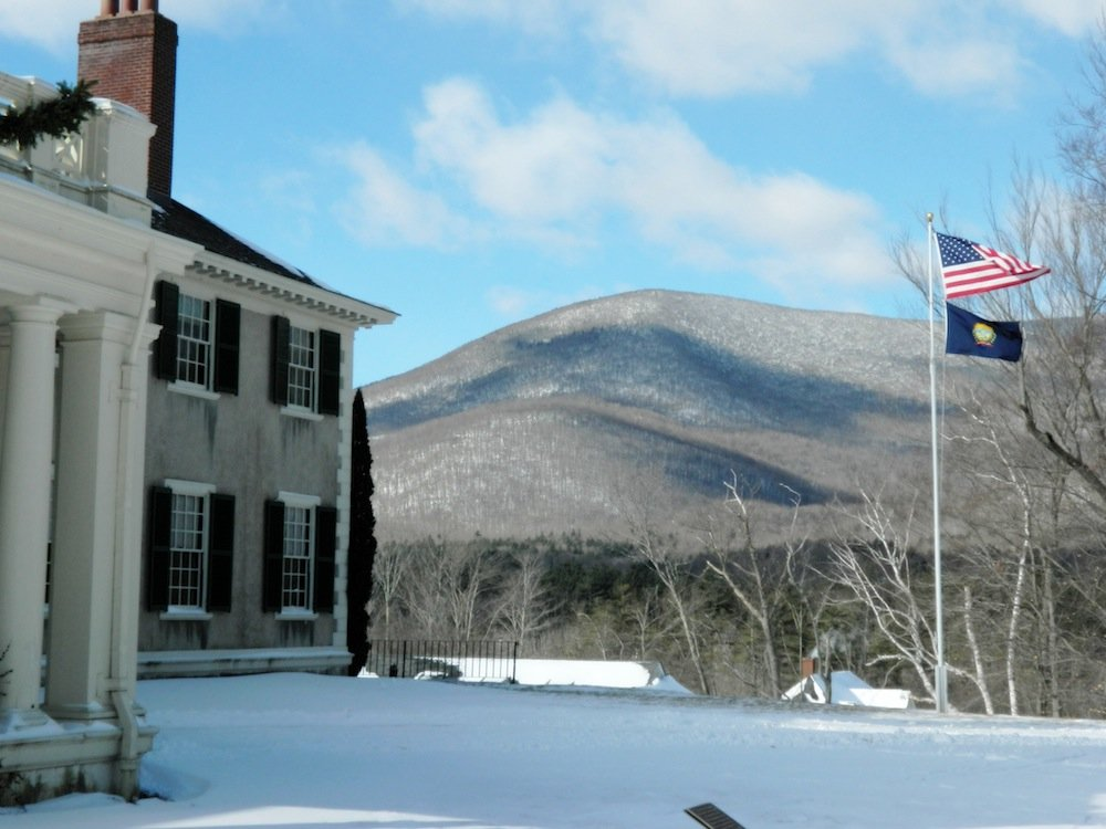Side view of the house at Hildene.