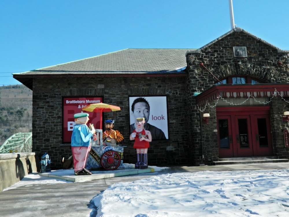 Brattleboro's Museum & Art Center is housed in a former Amtrak station.