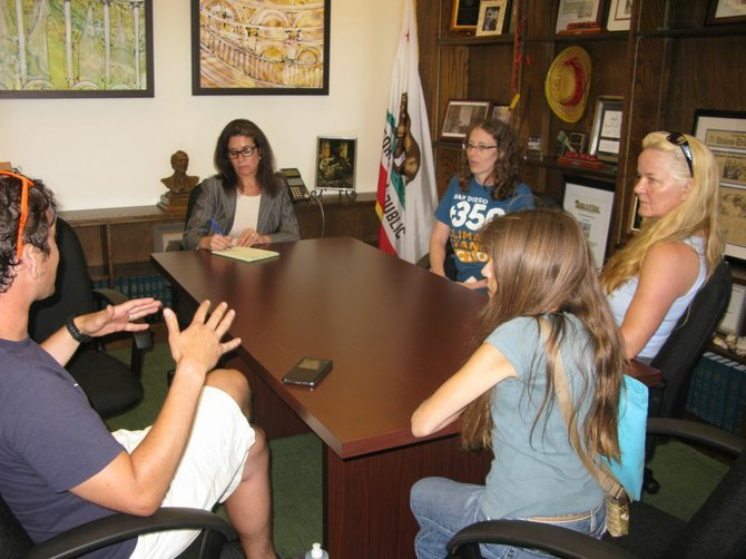 A small contingent was able to meet with Atkins's staff.