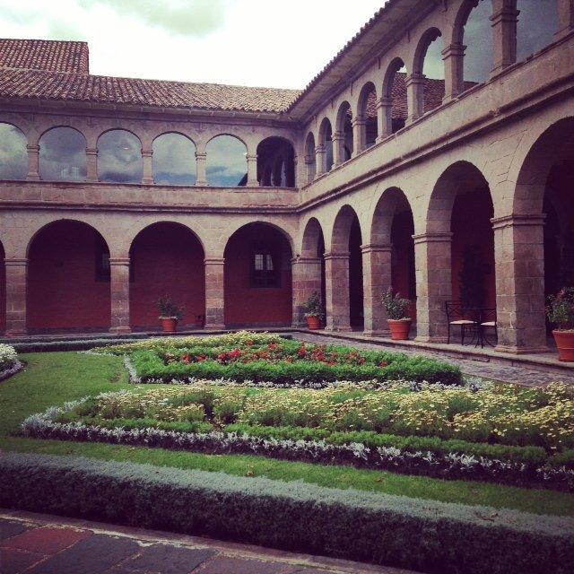 Coutryard of Cusco's Hotel Monasterio.