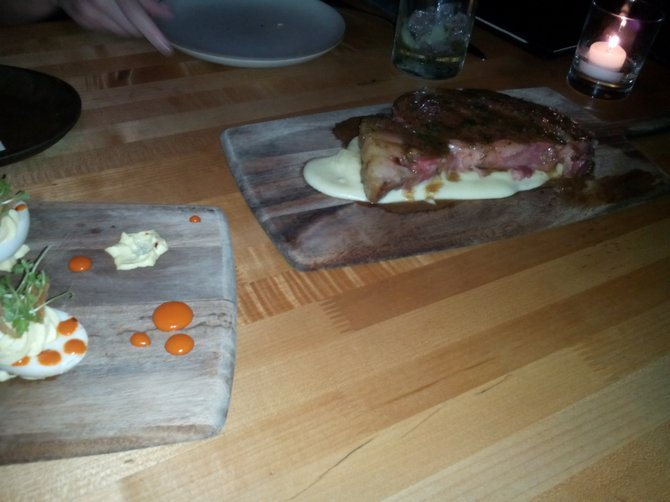 Prime rib in marrow gravy at Freddy Small's.