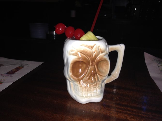 Ghost of Black's Beach cocktail at Cat Eye Club