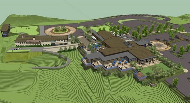 Architect's rendering of clubhouse expansion