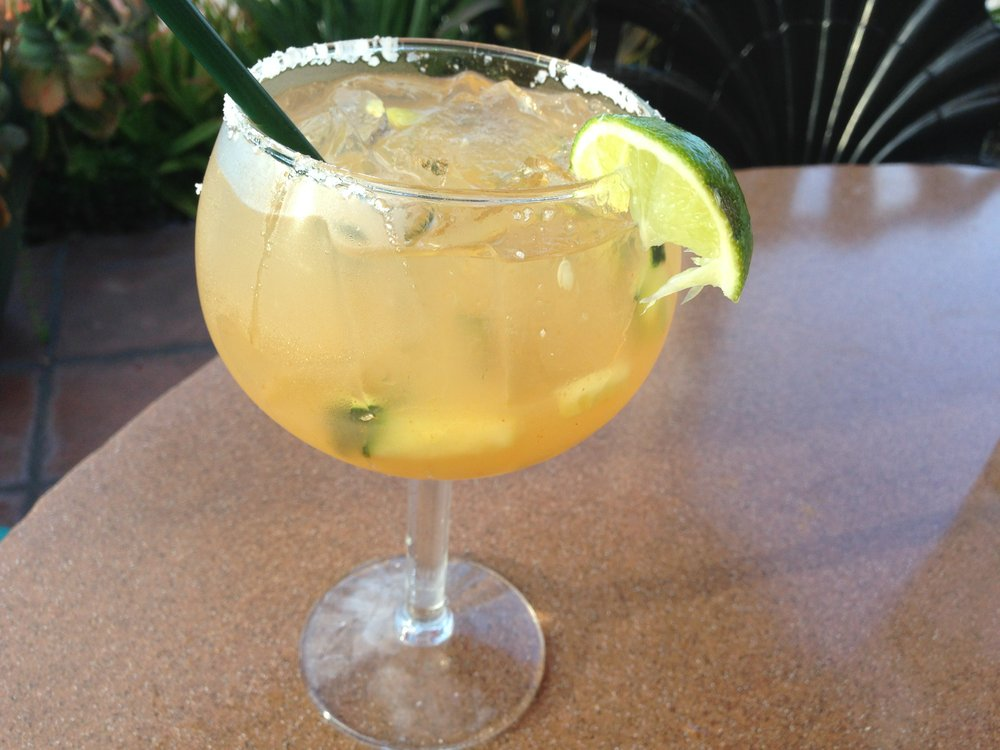 The Spicy Cucumber margarita at Casa Sol y Mar blends tequila, fresh lime, cucumber, agave and tapatio sauce.
