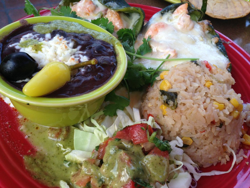 Seafood poblanos at Casa Sol y Mar