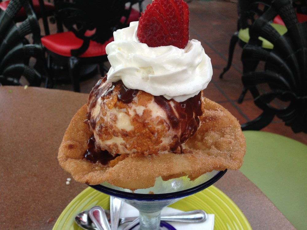 Fried ice cream dessert at Casa Sol y Mar