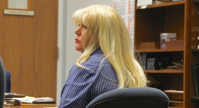 Julie Harper in court this morning, June 3.