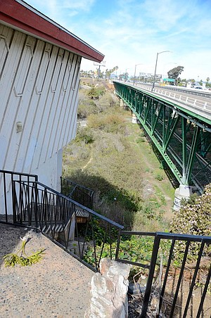 The San Luis Rey River bed is a known hangout spot for transients and drug users.