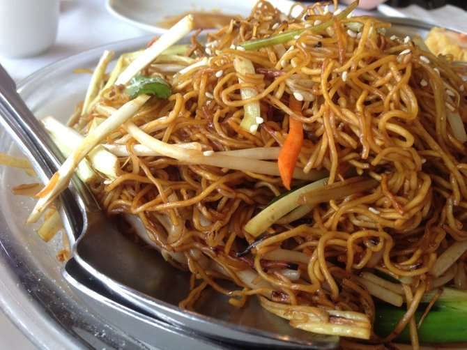 Delicious and smoky noodles