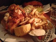 Lobster in a roll with exceptional fries