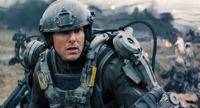 Edge of Tomorrow: In the future, we will all wear our helmets at jaunty angles.
