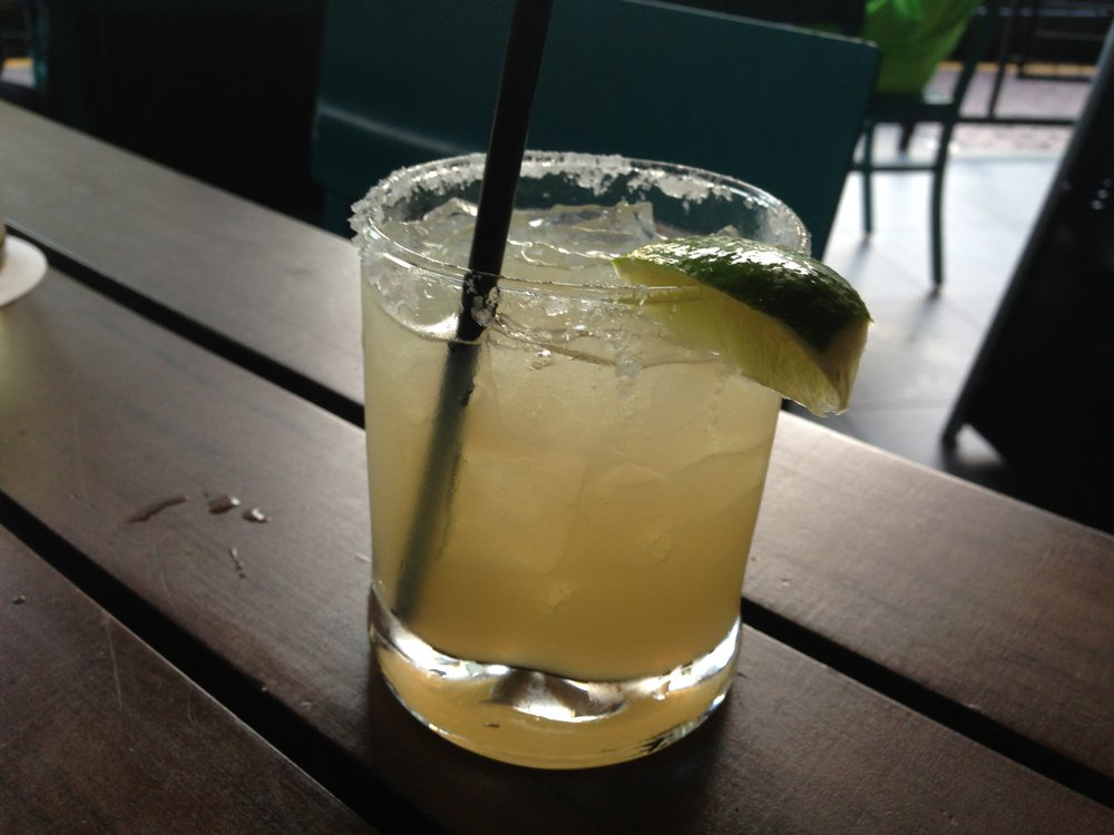 Spike Africa's Sand Dancer margarita is made with El Jimador Blanco, tequila, apricot, lime juice and chipotle syrup.