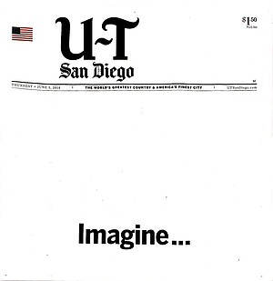 Today's front-page ad