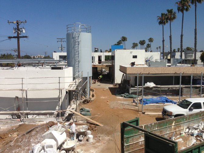 Bagby Beer Co. is set to emerge from this Oceanside construction site this summer.