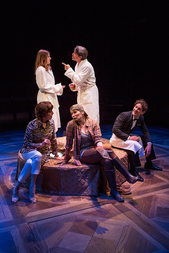 Nicole Parker as Mags, Jon Patrick Walker as Andy, Eric William Morris as Jeff, Heidi Blickenstaff as Jane, and Beth Leavel as Rhoda in  Dog and Pony.