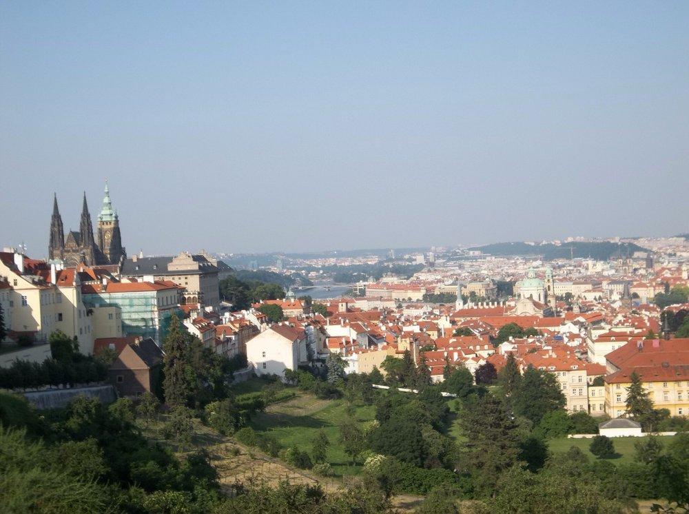 Bird's eye view of Prague.