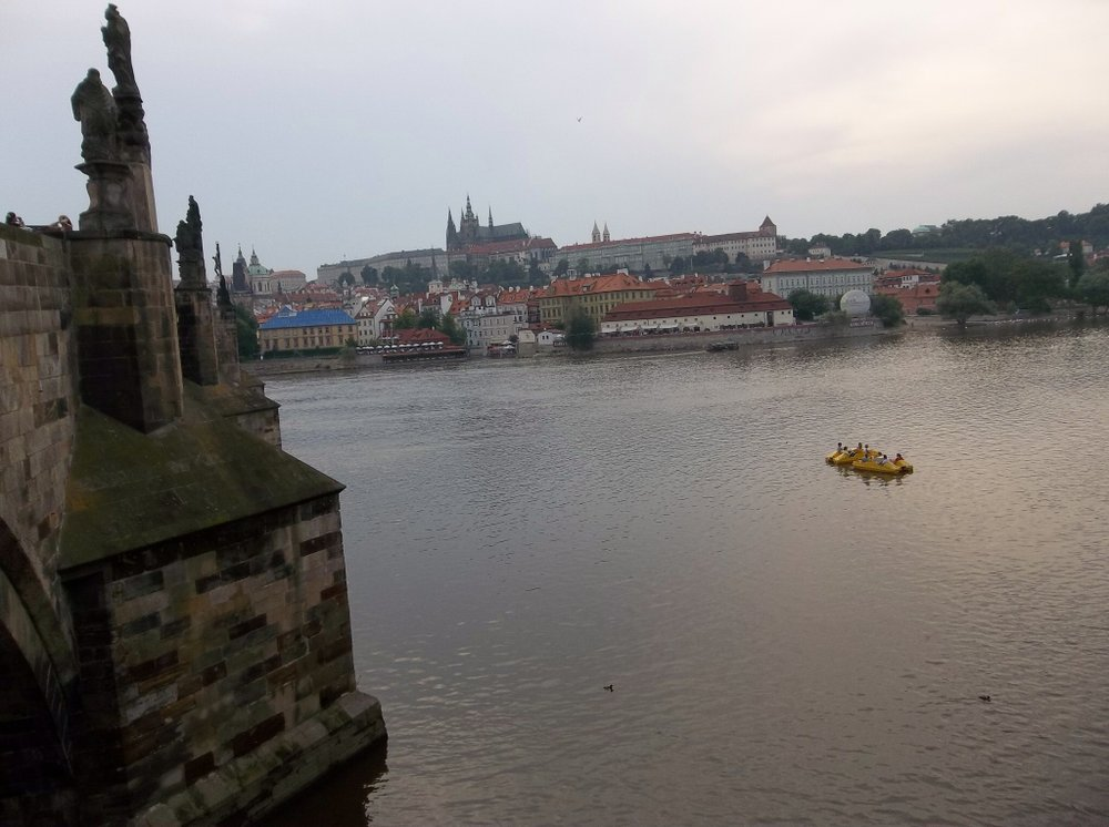 Another view across the Vltava from the Charles Bridge.