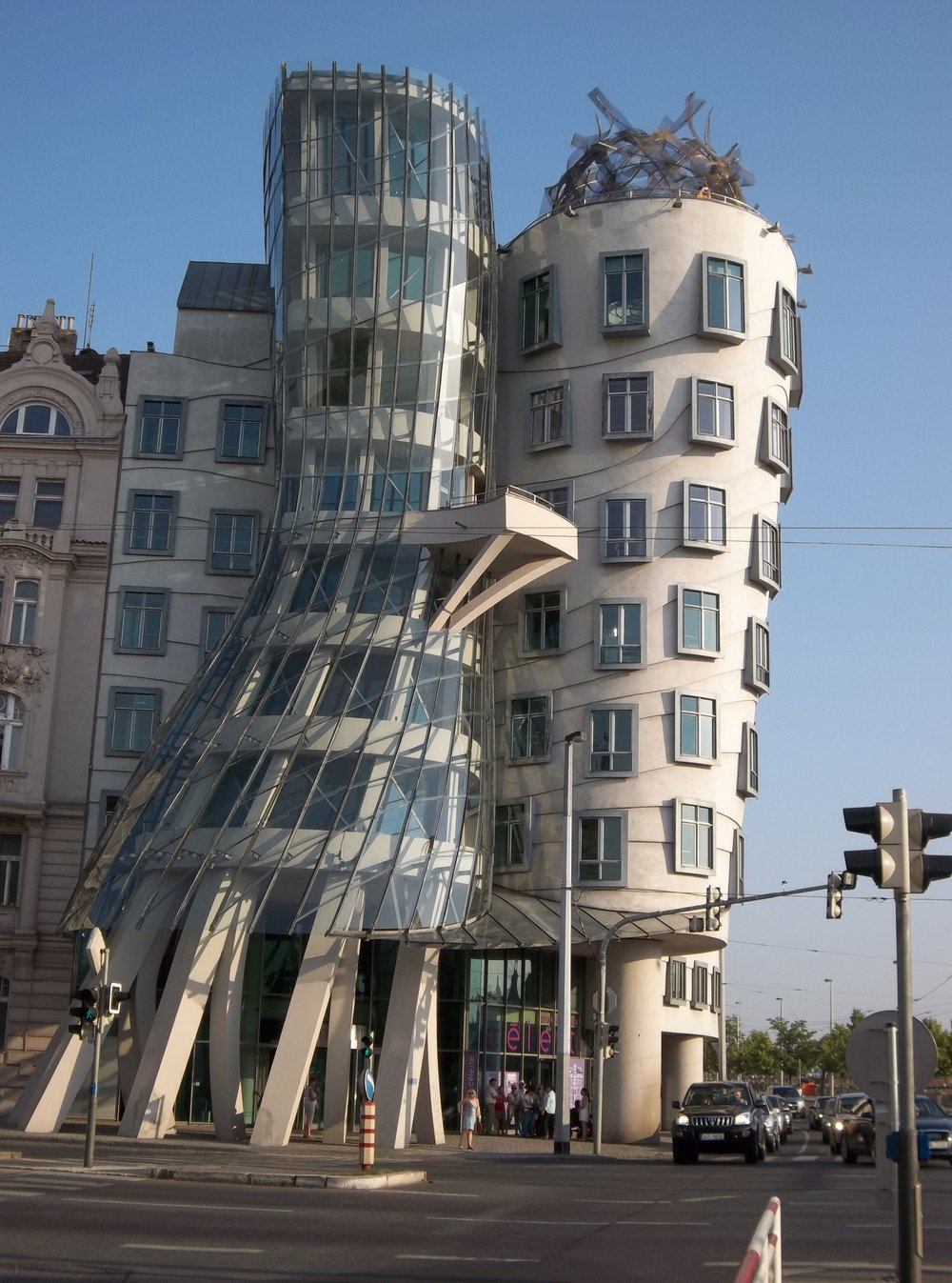 The architect Frank Gehry's shape-shifting Dancing House.