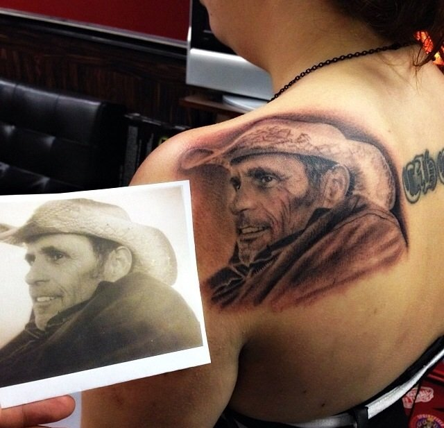 Tattoo you my tattoo is a portrait of my father who for Tattoos for dad that passed away