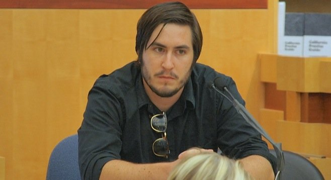 James Upton in the witness box. Photo by Eva