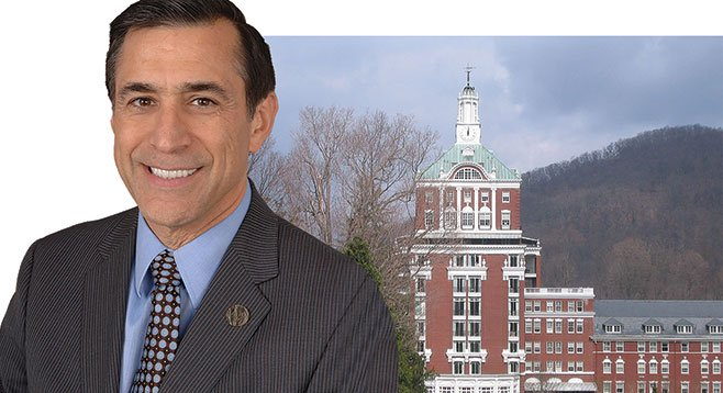 A Darrell Issa staffer enjoyed free lodging and dining at a swanky Virginia hotel, courtesy of lobbyists.