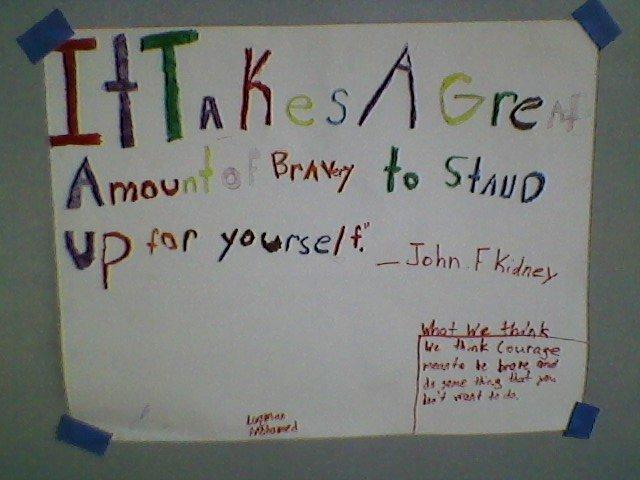 JFK - elementary school poster.