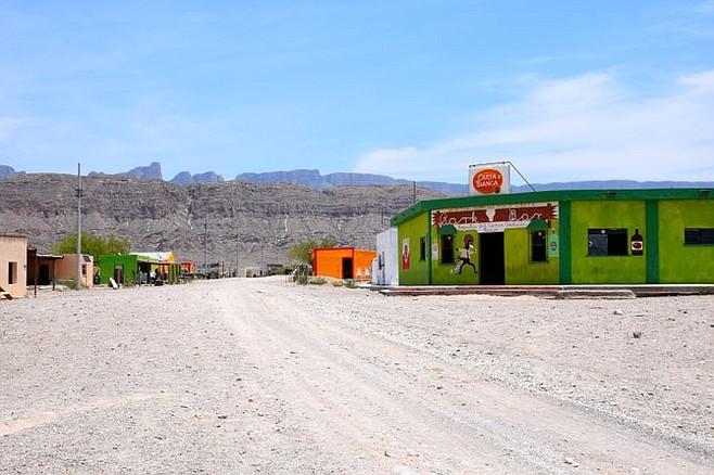The main drag in Boquillas del Carmen.
