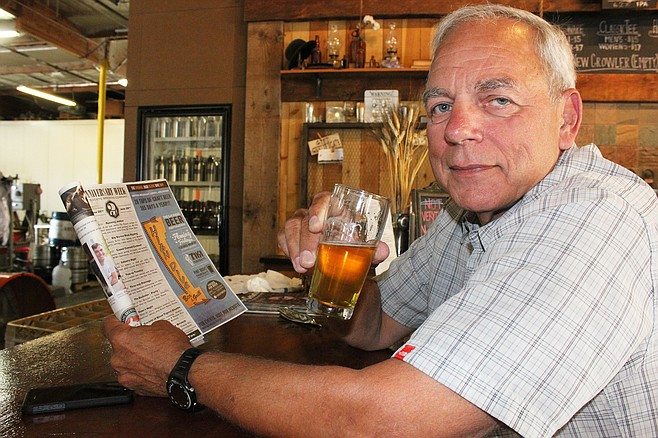 Bitter Brothers Brewing Company president and founder Bill Warnke