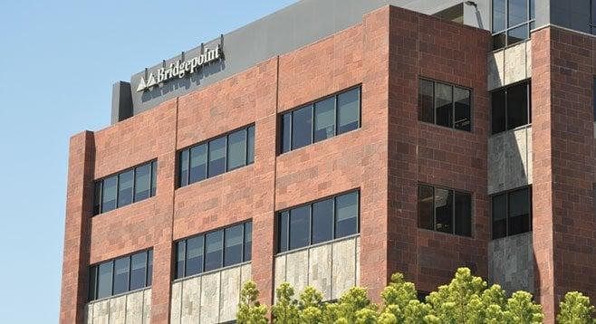 United States University ails; Bridgepoint's stock tumbles.