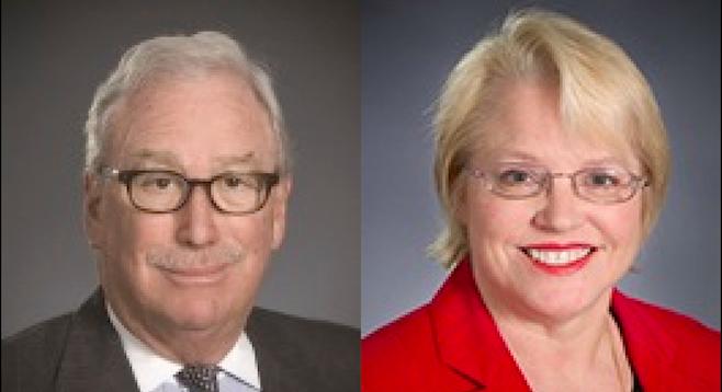 Michael Peevey and Karen Miller