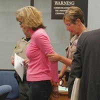 Bailiff got out the fashionable orange bracelets for Donna Lee Darling.